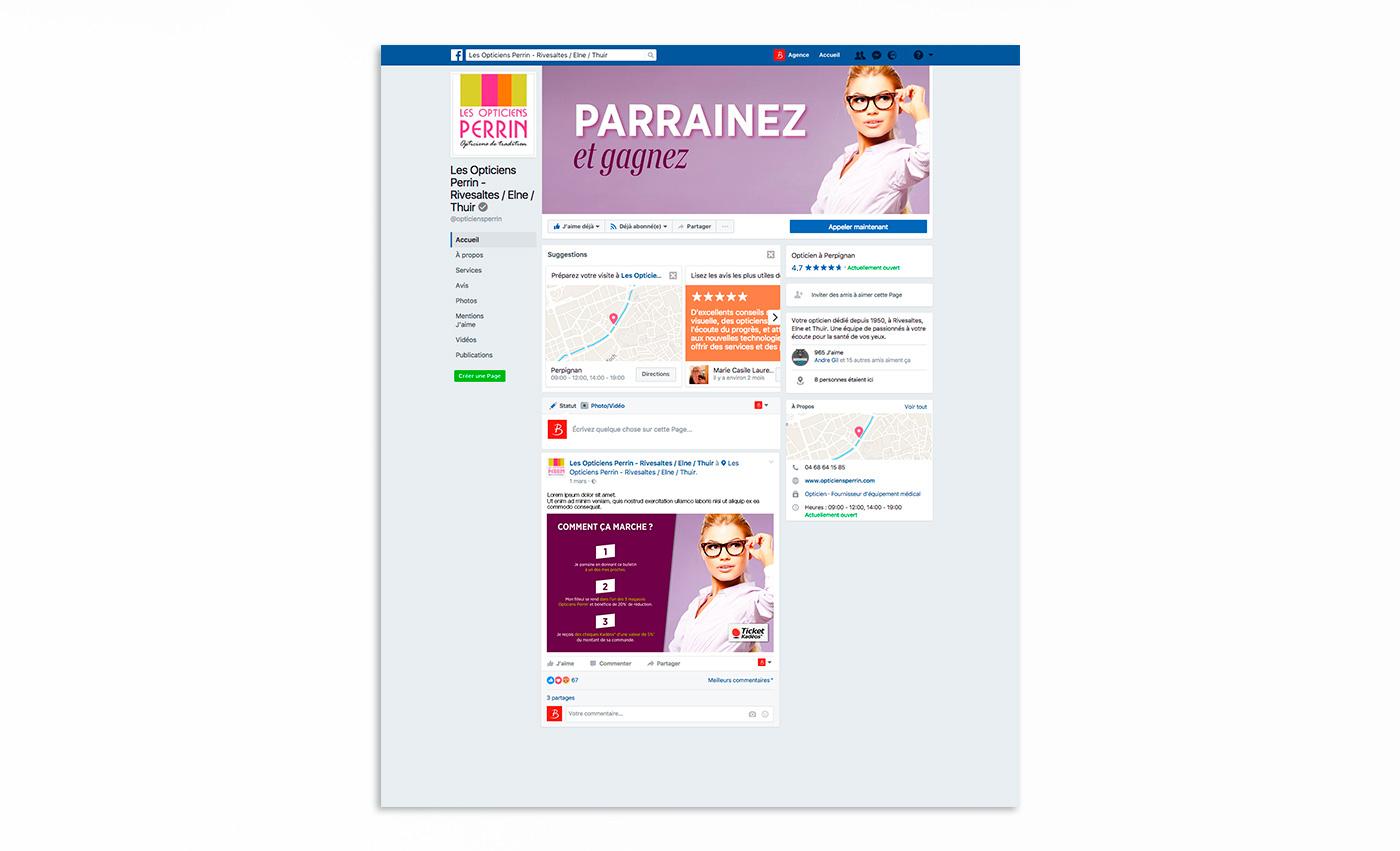 Optique Perrin - Agence de communication digitale à Perpignan B-now