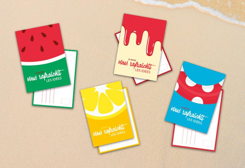 4 cartes postales rafraîchissantes à télécharger gratuitement pour l'été